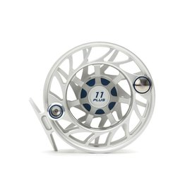 HATCH OUTDOORS 11 Plus Gen 2 Finatic Large Arbor Fly Reel - Clear/Blue