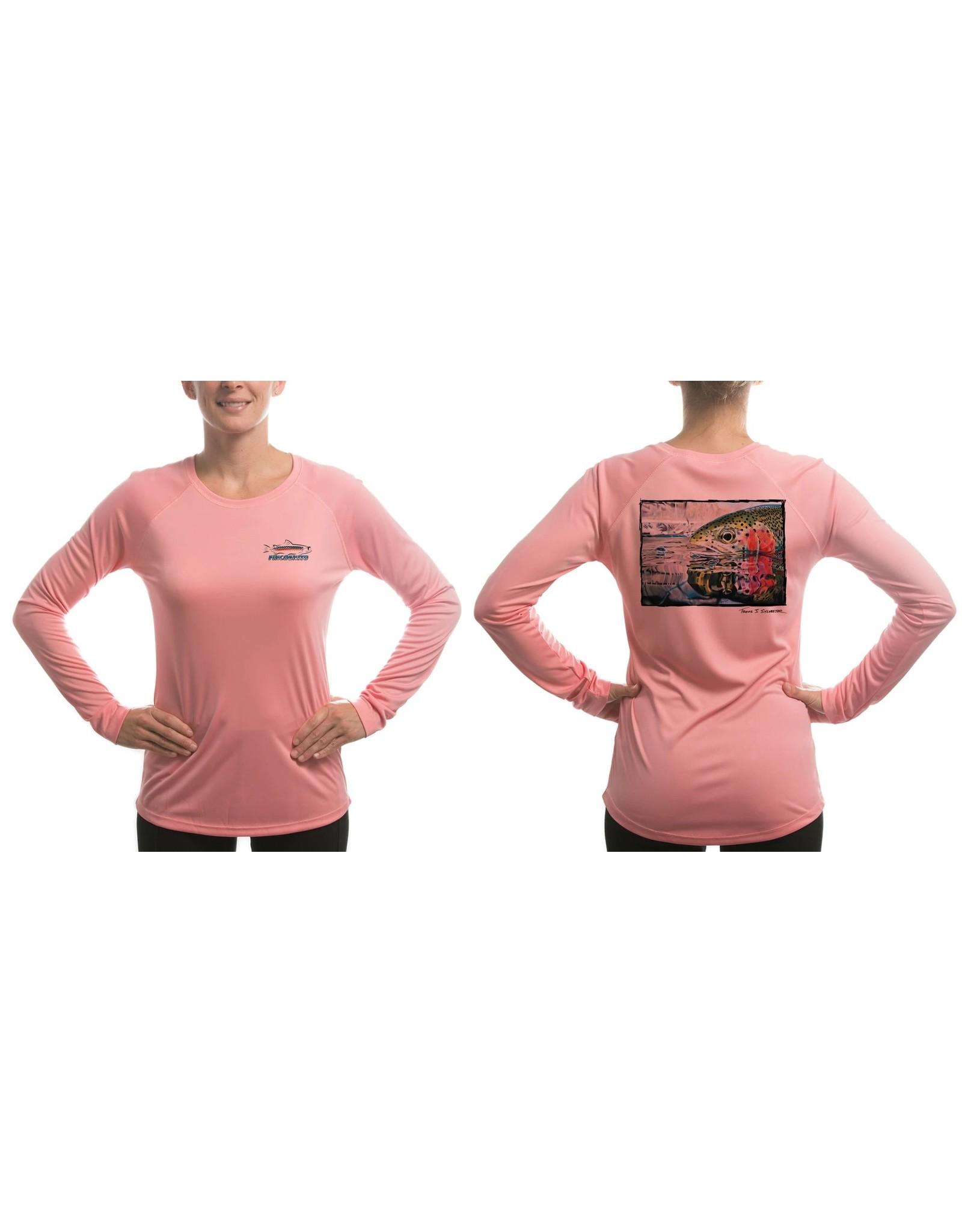 FINCOGNITO Fincognito Women's Rainbow Reflection/Pink Solar Performance L/S T