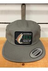 Kootenay Fly Shop Hats Fish Logo Classic Jockey Camp Cap Grey