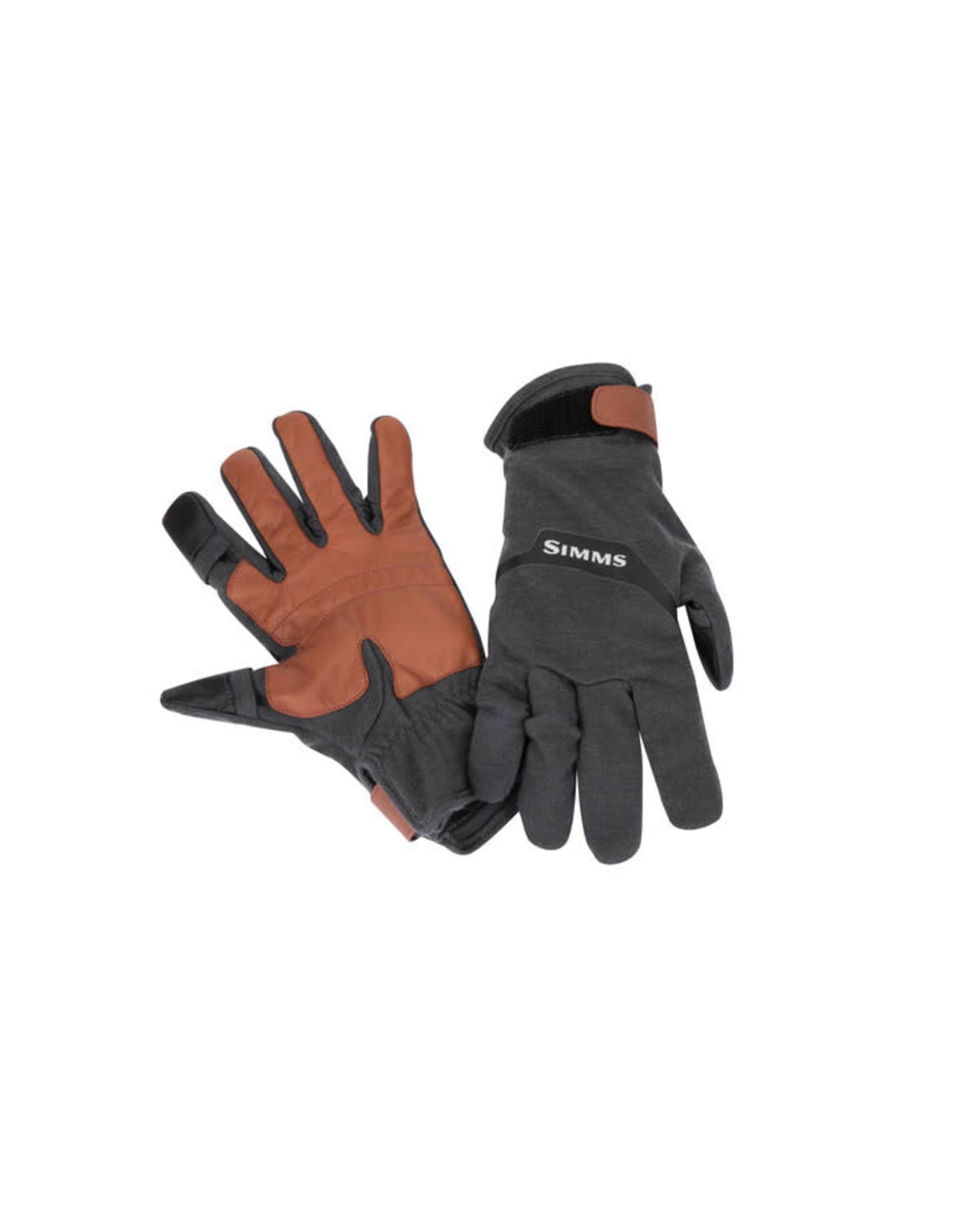 SIMMS Lightweight Wool Flex Glove - Carbon