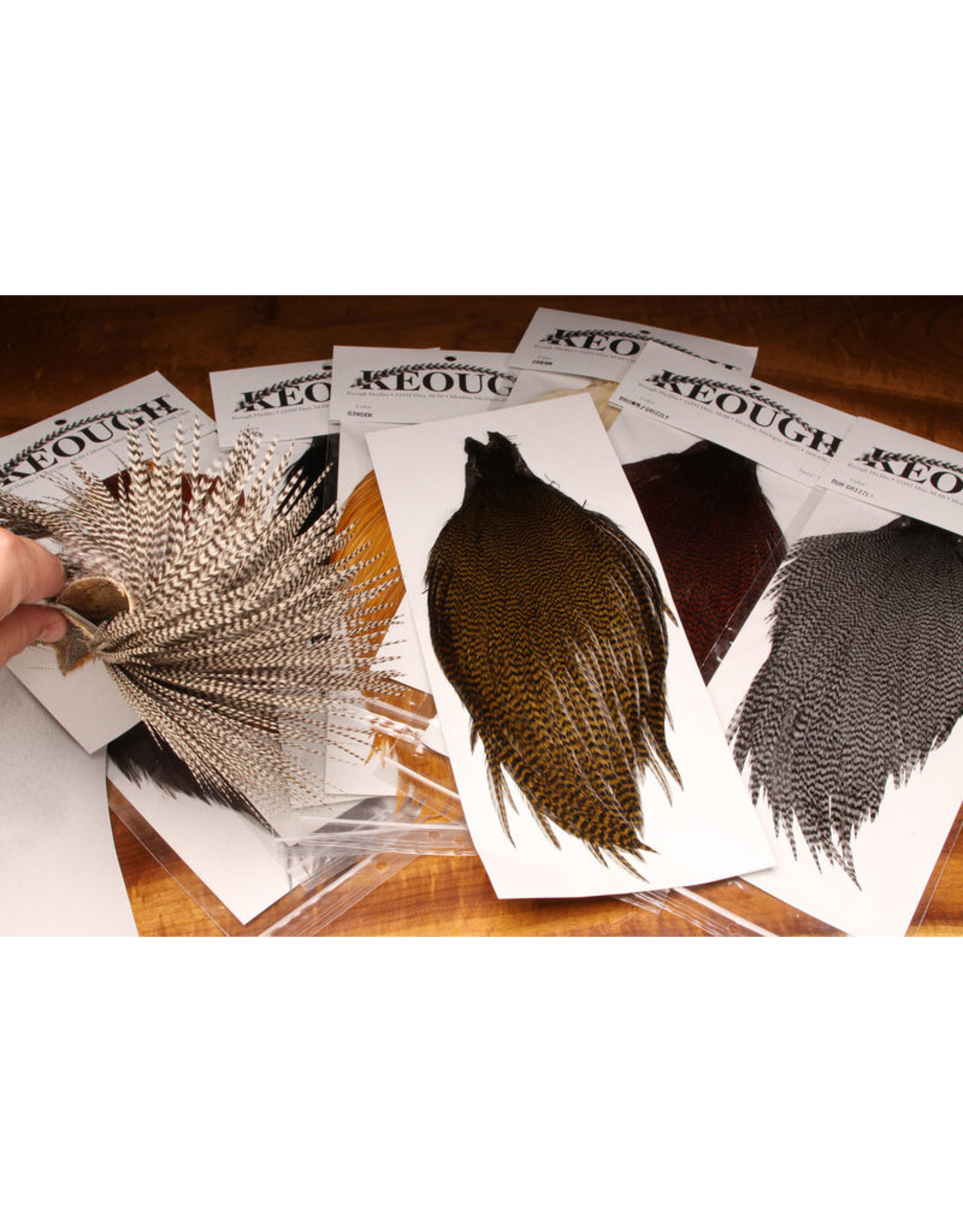 KEOUGH HACKLE Keough's Tyer's Grade Cape #176 Grizzly