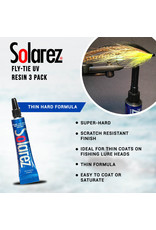 SOLAREZ Solarez Fly Tie UV Resin 3 Pack  - 15 Total Grams