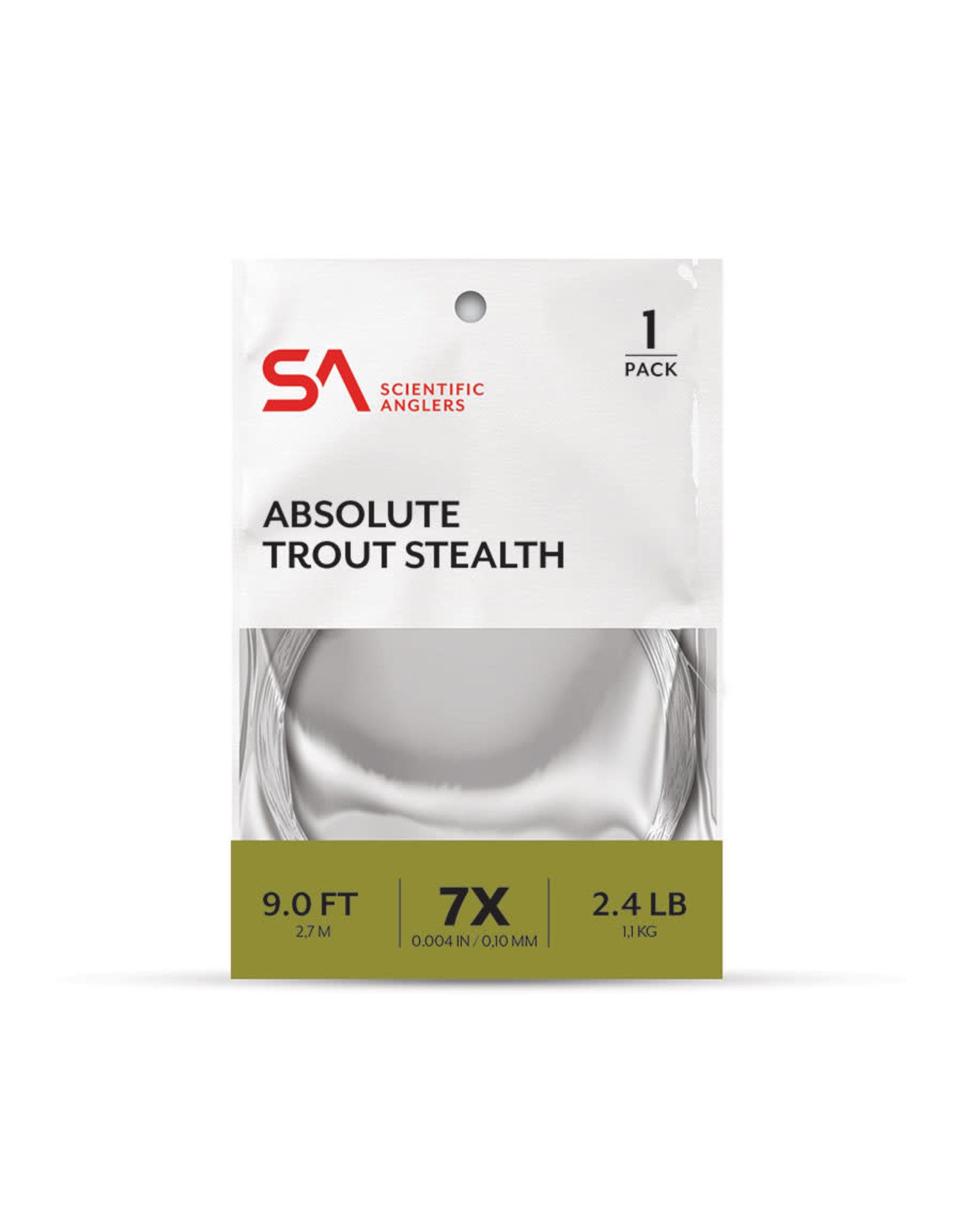 SCIENTIFIC ANGLERS Absolute Trout Stealth Leader - 1 Pack 9'