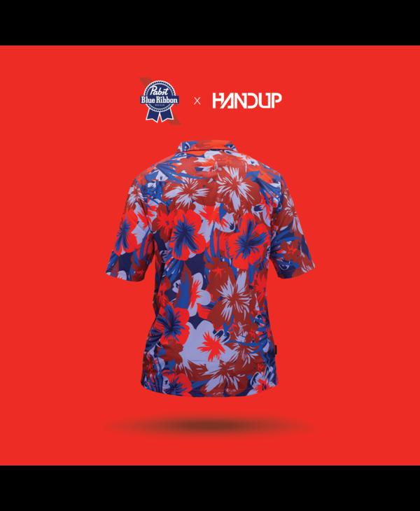 Handup-Hawaiian-Pabst Blue Ribbon Floral