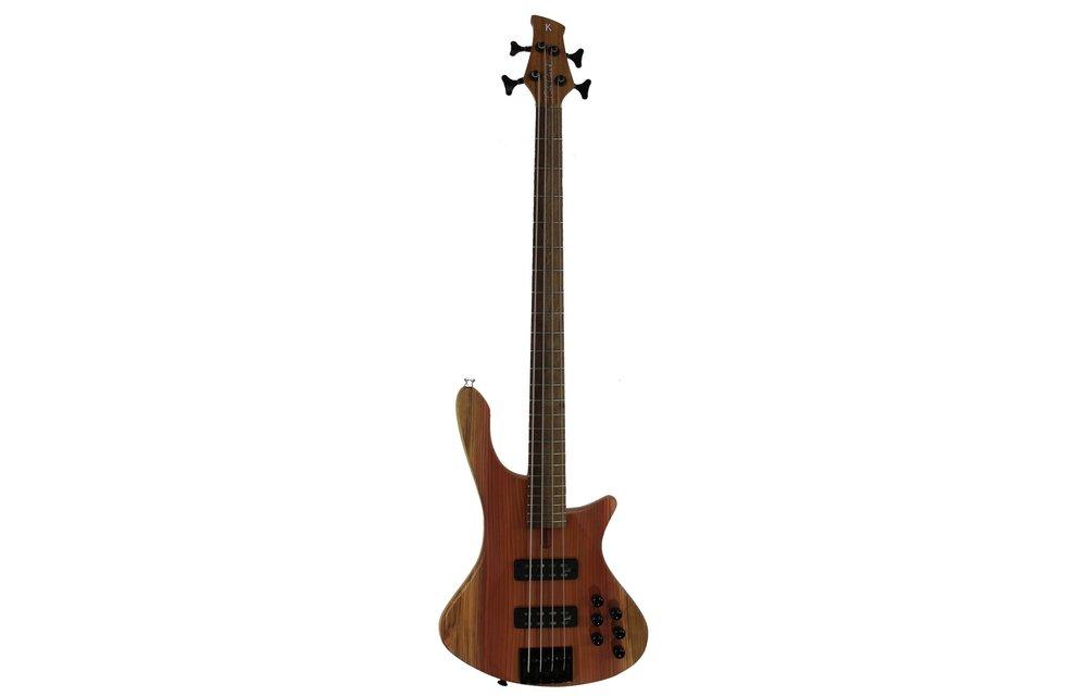 Cole Clark LLB Electric Bass - 4 string Redwood Top, River She Oak Fingerboard (LLB4-RD)