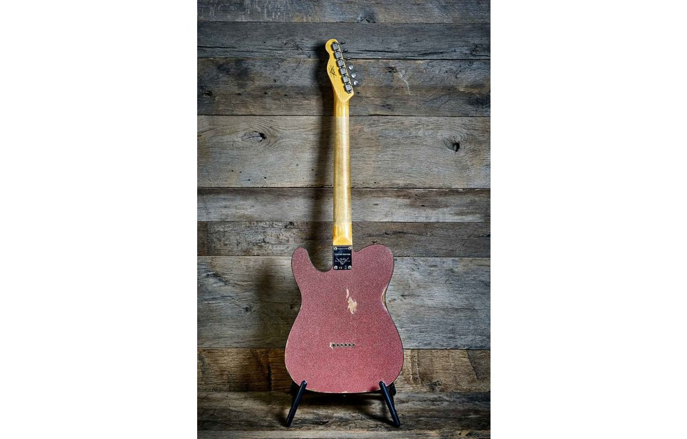 Fender Custom Shop Telecaster Thinline, Limited Edition 60s Custom Relic Champagne Sparkle