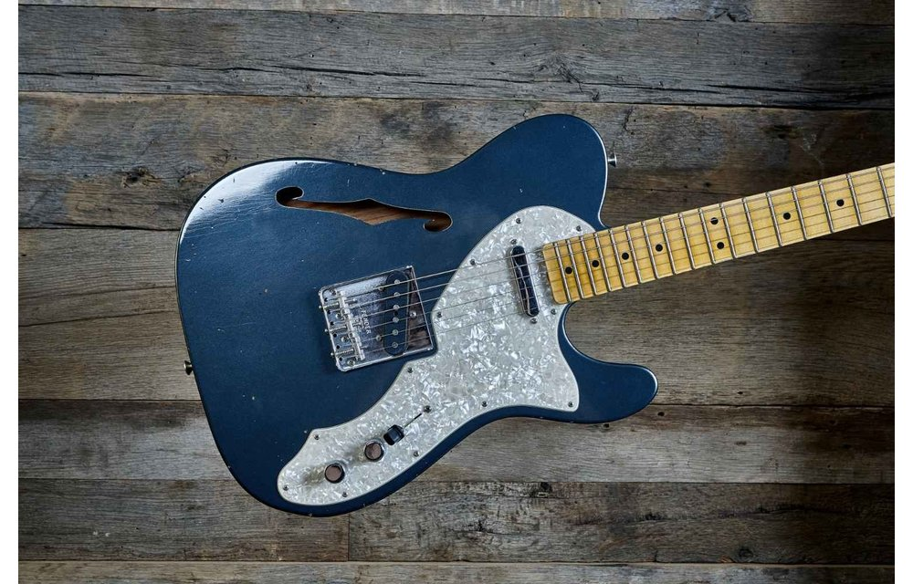 Fender Custom Shop Telecaster Thinline, Limited Edition '68 Journeyman Relic, Charcoal Frost Metallic