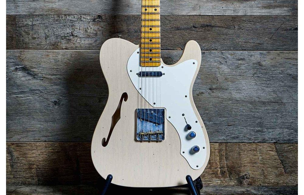 Fender Custom Shop Telecaster Thinline, Limited Edition 50s Journeyman Relic, Aged White Blonde