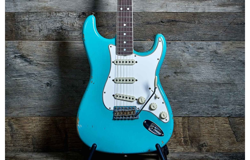 Fender Custom Shop Stratocaster, '67 Relic, Faded Seafoam Green