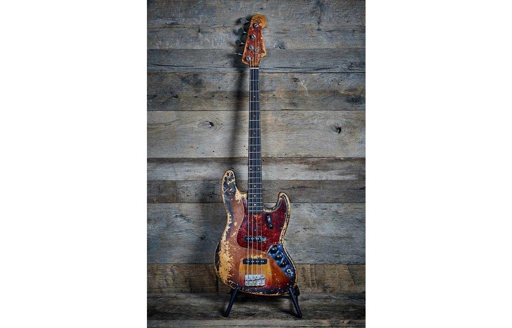 Fender Jazz Bass 1962 Slab-Board Sunburst