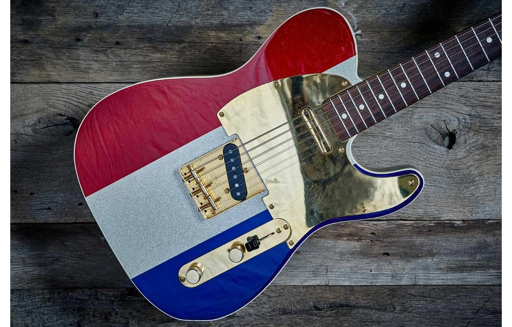 Fender Telecaster Buck Owens Limited Edition 1998, Red, White & Blue Sparkle