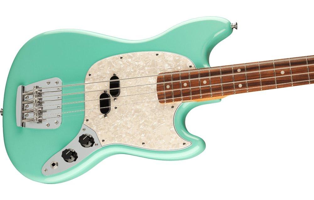 Fender Vintera '60s Mustang Bass, Pau Ferro Fingerboard, Seafoam Green