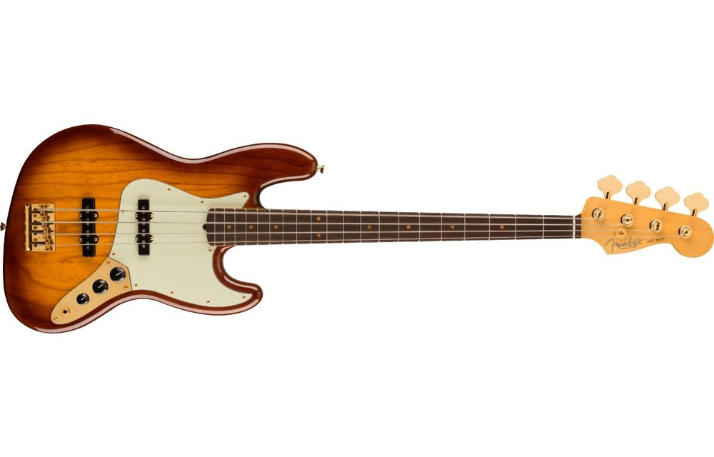 Fender 75th Anniversary Commemorative Jazz Bass, Rosewood Fingerboard, 2-Color Bourbon Burst