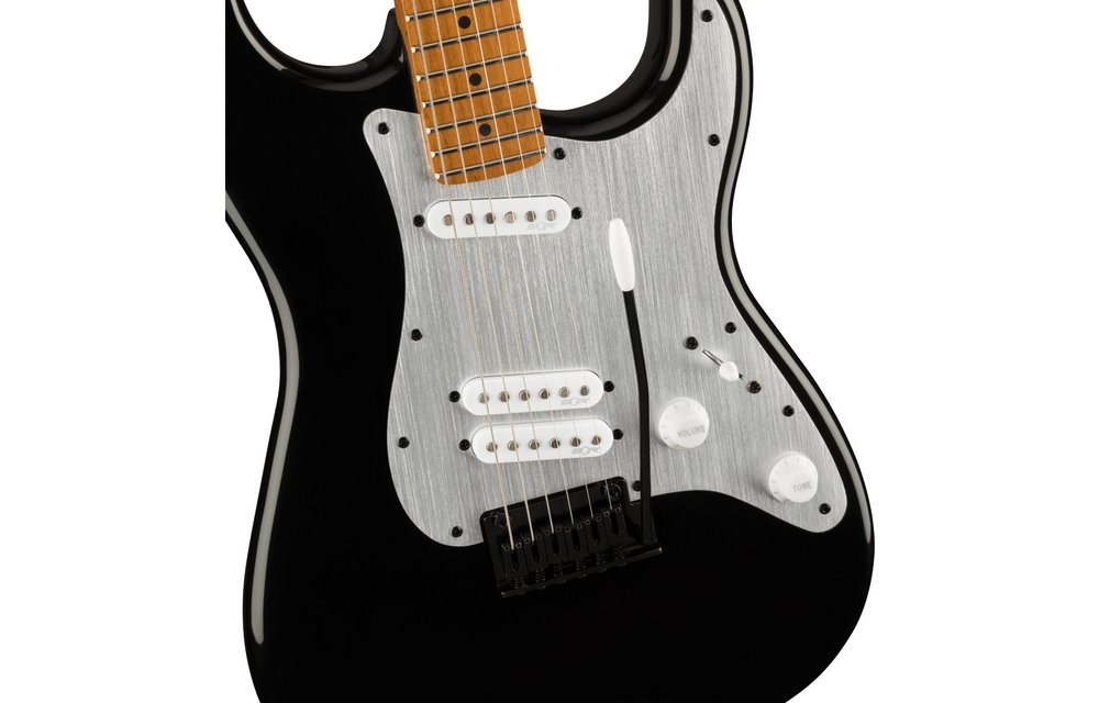 Squier Contemporary Stratocaster Special, Roasted Maple Fingerboard, Silver Anodized Pickguard, Black