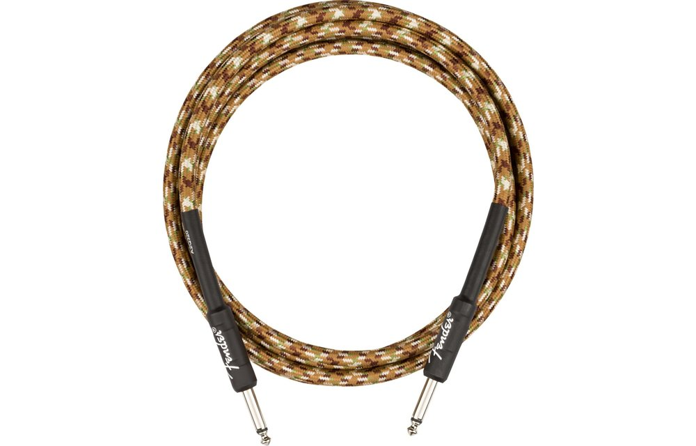 Fender Professional Series Instrument Cable, Straight/Straight, 10', Desert Camo