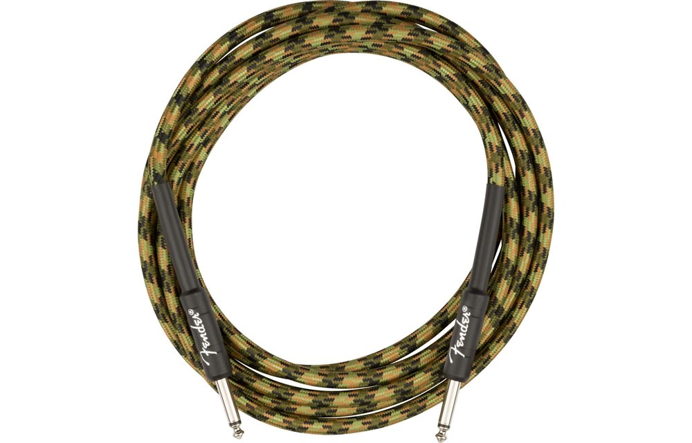 Fender Professional Series Instrument Cable, Straight/Straight, 10', Woodland Camo