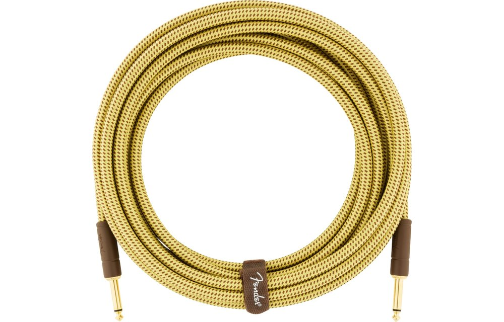 Fender Deluxe Series Instrument Cable, Straight/Straight, 10', Tweed