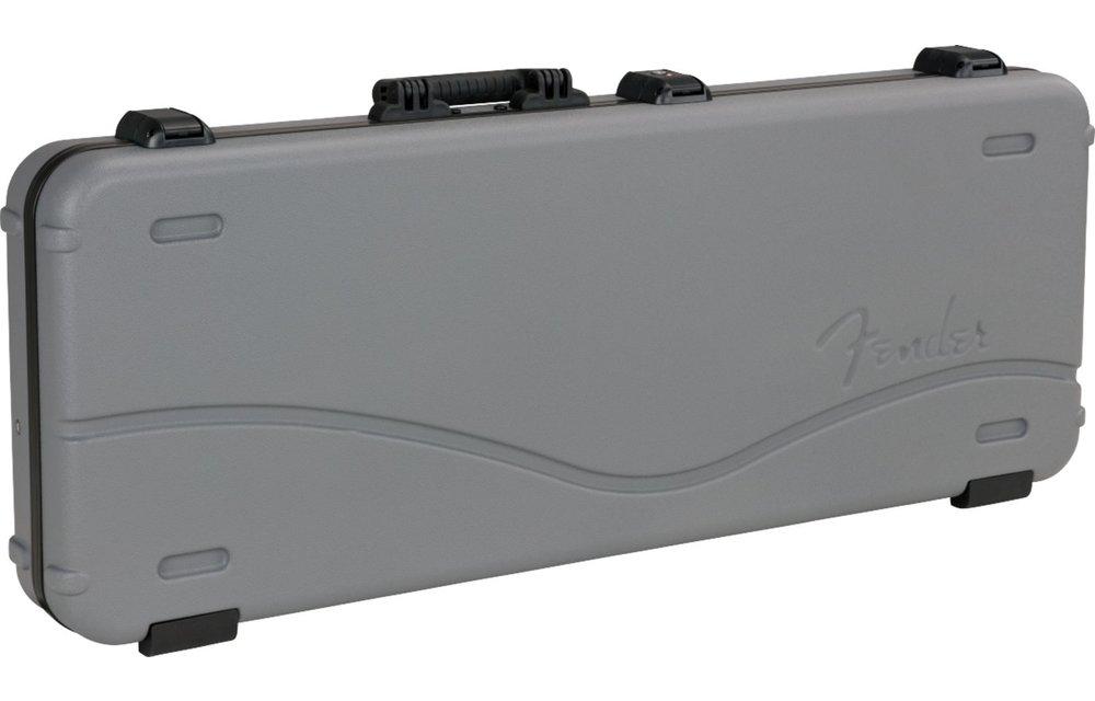 Fender Deluxe Molded Strat/Tele Case, Silver/Blue