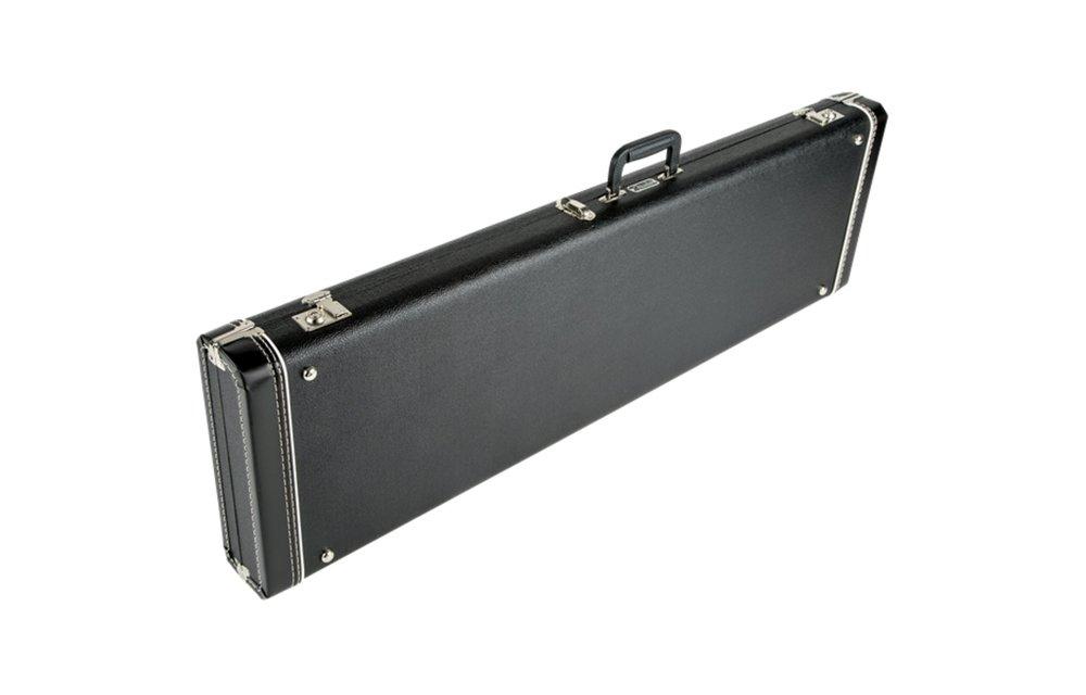 Fender G&G Standard Mustang/Musicmaster/Bronco Bass Hardshell Case, Black with Acrylic Interior.