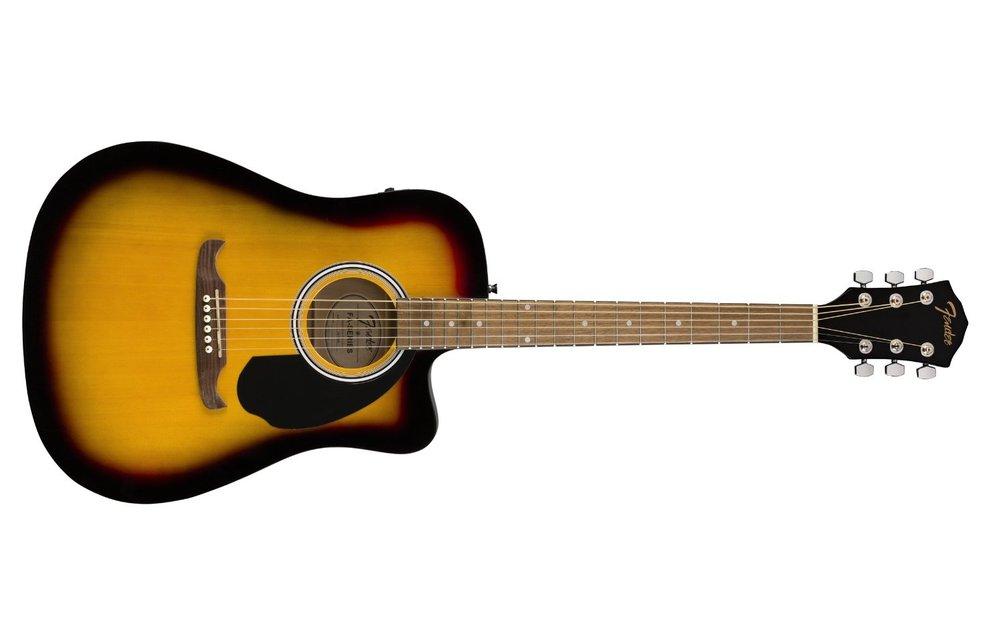 Fender FA-125CE Dreadnought, Walnut Fingerboard, Sunburst