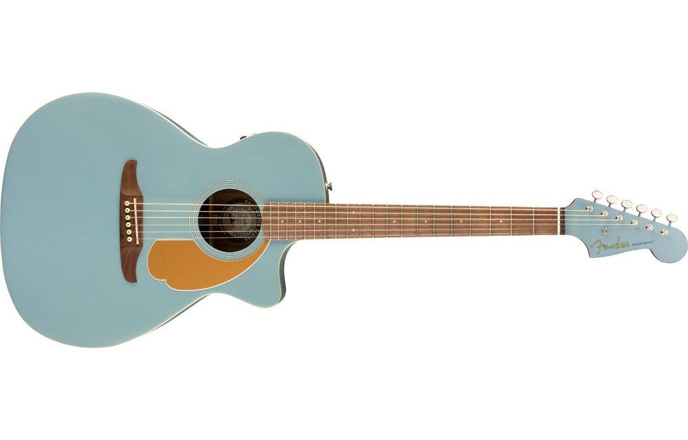 Fender Newporter Player, Walnut Fingerboard, Ice Blue Satin