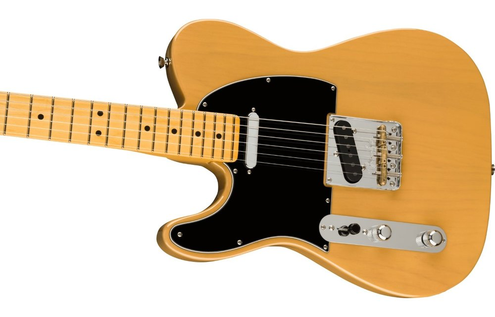 Fender American Professional II Telecaster Left-Hand, Maple Fingerboard, Butterscotch Blonde