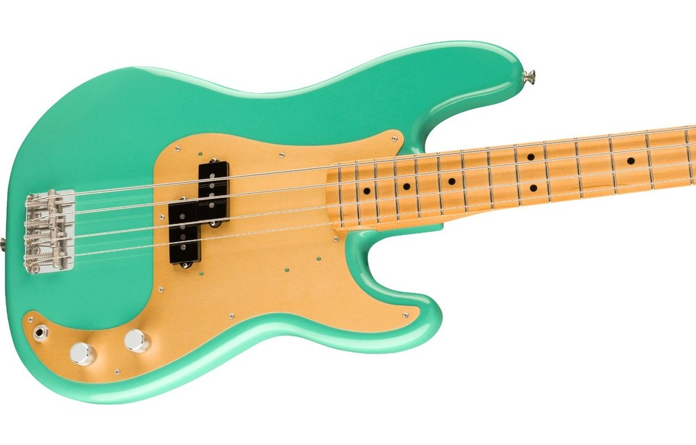 Fender Vintera '50s Precision Bass, Maple Fingerboard, Seafoam Green