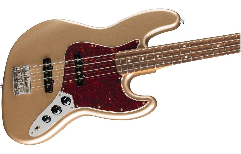 Fender Vintera '60s Jazz Bass, Pau Ferro Fingerboard, Firemist Gold