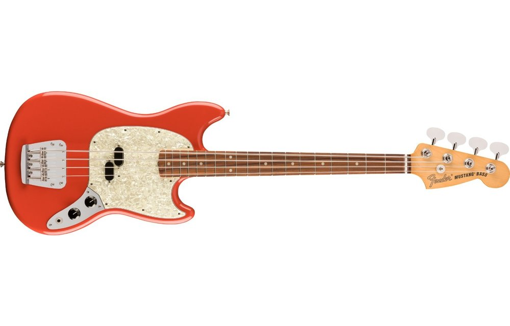 Fender Vintera '60s Mustang Bass, Pau Ferro Fingerboard, Fiesta Red