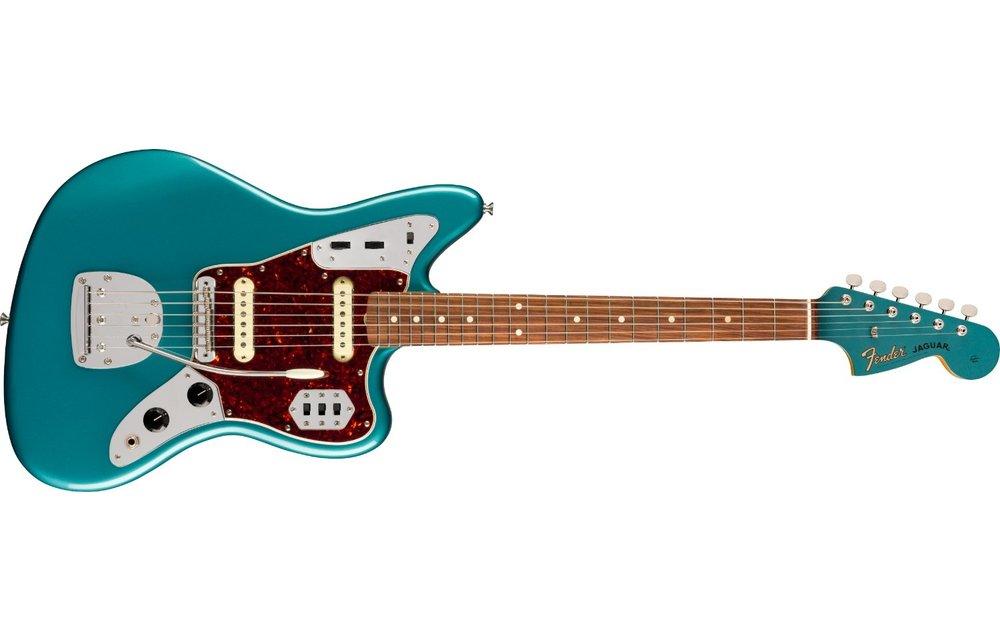 Fender Vintera '60s Jaguar, Pau Ferro Fingerboard, Ocean Turquoise
