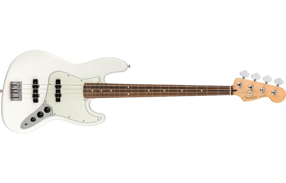 Fender Player Jazz Bass, Pau Ferro Fingerboard, Polar White