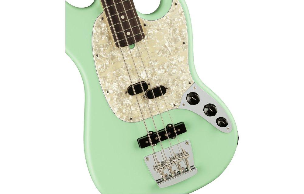 Fender American Performer Mustang Bass, Rosewood Fingerboard, Satin Surf Green
