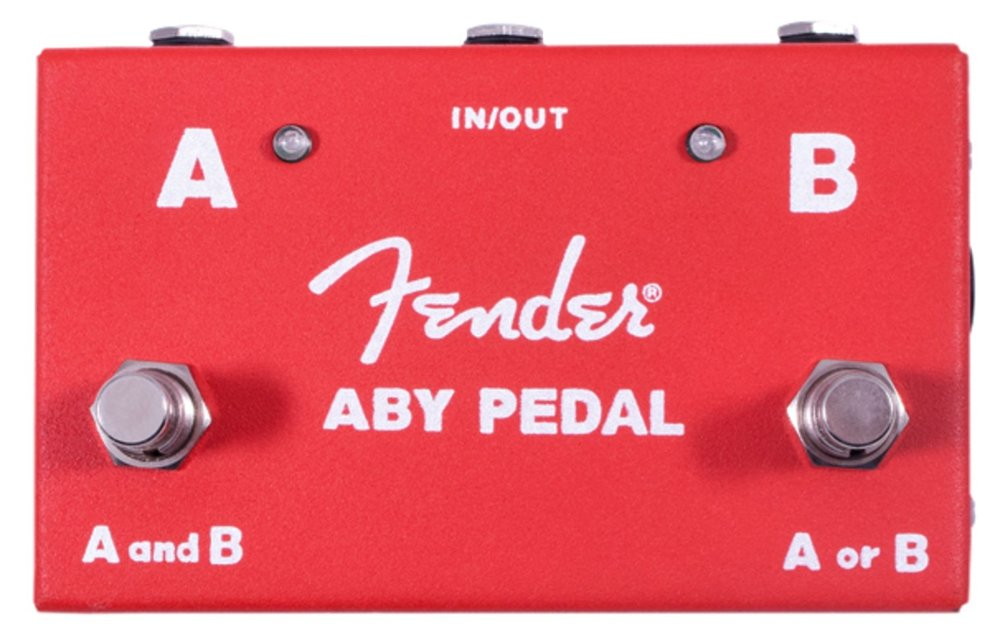 Fender 2-Switch ABY Pedal, Red