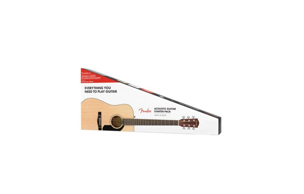 Fender CD-60S Dreadnought Acoustic Guitar Pack V2, Natural