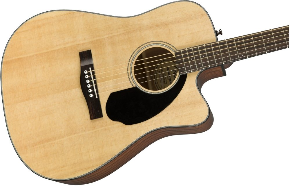 Fender CD-60SCE Dreadnought, Walnut Fingerboard, Natural Finish, Electric Acoustic Guitar