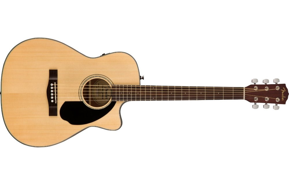 Fender CC-60SCE Concert, Walnut Fingerboard, Natural Electric Acoustic Guitar