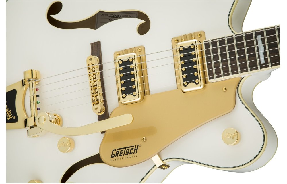 Gretsch G5422TG Electromatic Hollow Body Double-Cut with Bigsby and Gold Hardware, Snowcrest White
