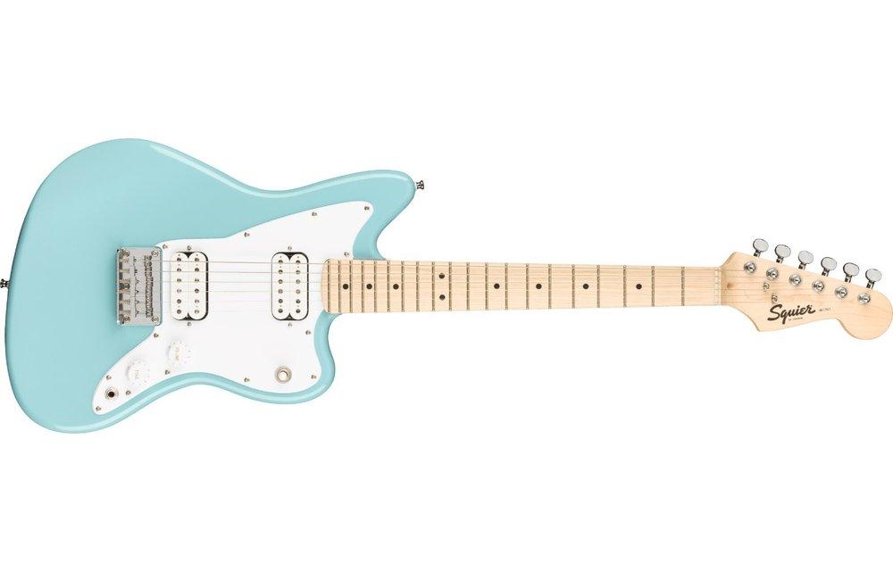 Squier Mini Jazzmaster HH, Maple Fingerboard, Daphne Blue