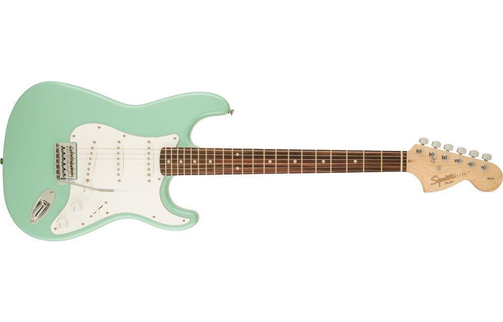 Squier Affinity Series Stratocaster, Laurel Fingerboard, Surf Green