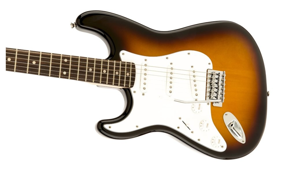 Squier Affinity Series Stratocaster, Left-Handed, Laurel Fingerboard, Brown Sunburst
