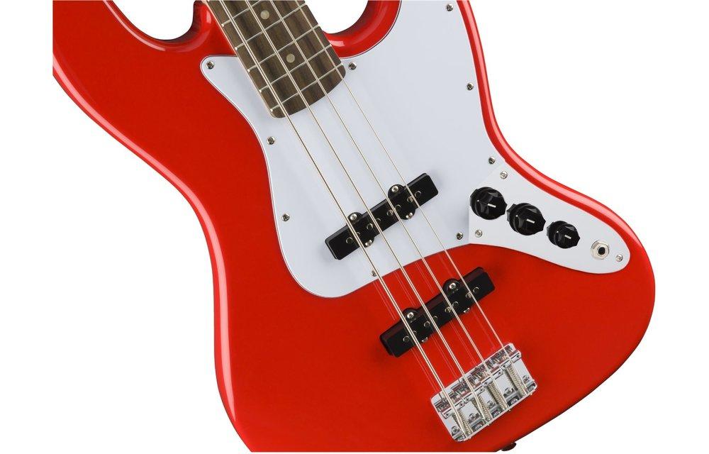 Squier Affinity Series Jazz Bass, Laurel Fingerboard, Race Red