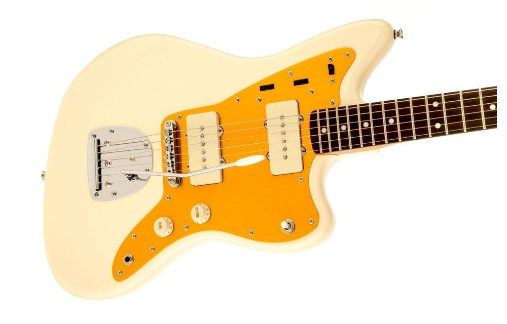 Squier J Mascis Jazzmaster, Laurel Fingerboard, Vintage White