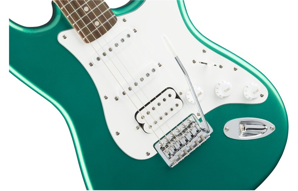 Squier Affinity Series Stratocaster HSS, Laurel Fingerboard, Race Green