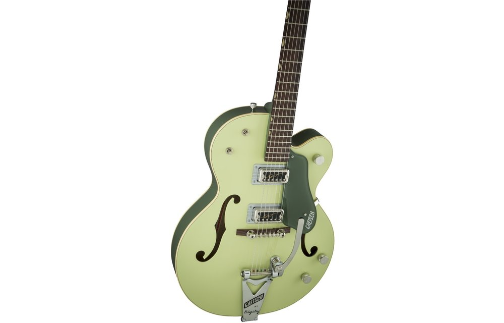 Gretsch G6118T-60 Vintage Select Edition '60 Anniversary Hollow Body with Bigsby, TV Jones, 2-Tone Smoke Green