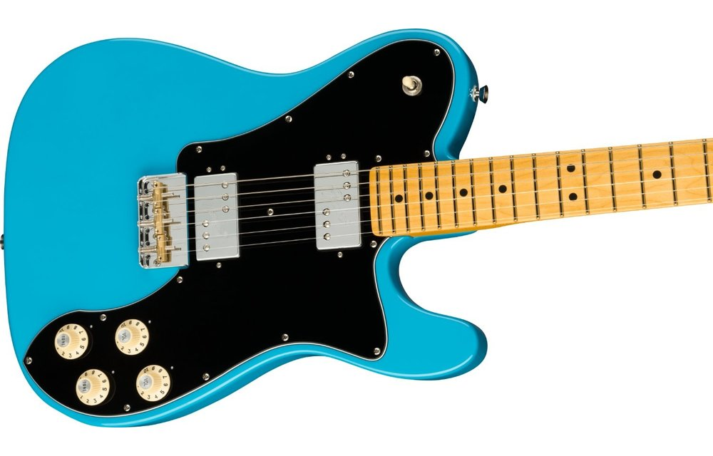 Fender American Professional II Telecaster Deluxe, Maple Fingerboard, Miami Blue