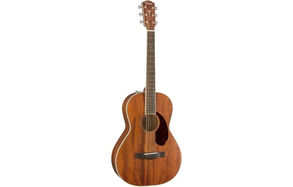 Fender PM-2 Parlor, Ovangkol Fingerboard, All-Mahogany w/case