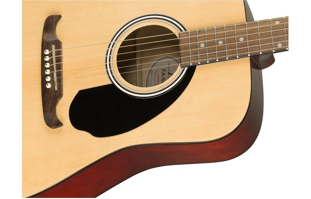 Fender FA-125 Dreadnought w/Gig Bag, Walnut Fingerboard, Natural