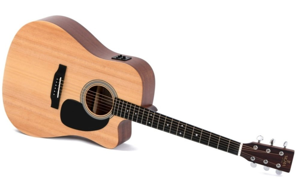 Sigma DMC-STE Spruce/Mahogany Dreadnought Cutaway Electric Acoustic Guitar