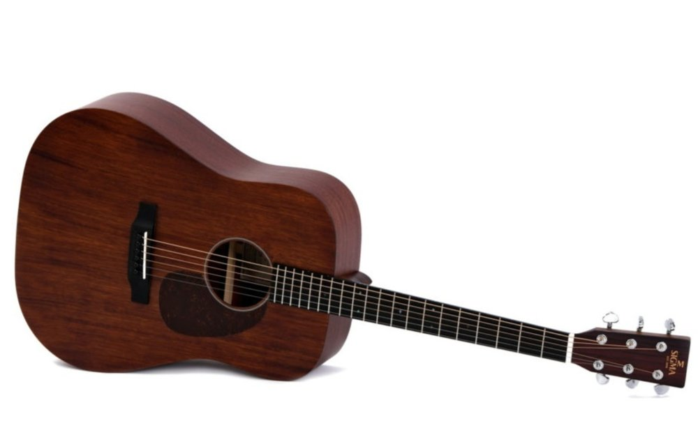 Sigma DM-15 All Mahogany Dreadnought Acoustic Guitar