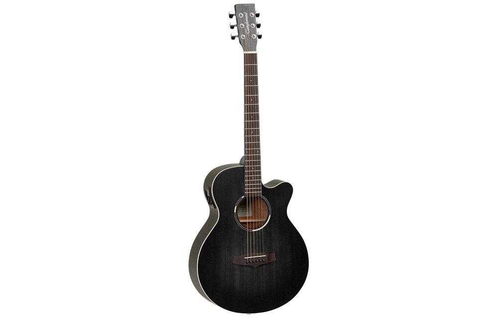 Tanglewood TWBBSFCE Blackbird SuperFolk Electric Acoustic Guitar with Cutaway, Smokestack Satin